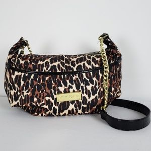 Betsey Johnson Animal Print Shoulder Purse